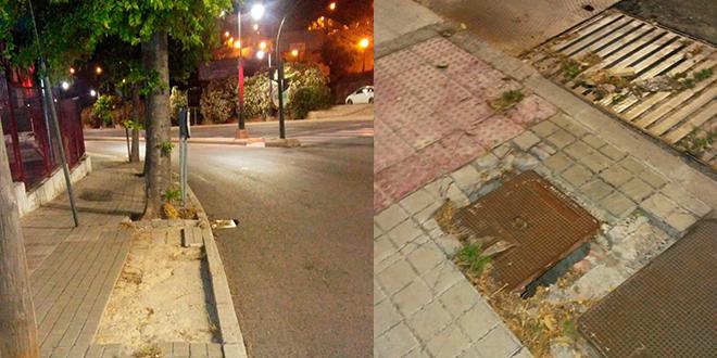 Compromís reclama mejoras para los desperfectos de la Avinguda d´Alacant