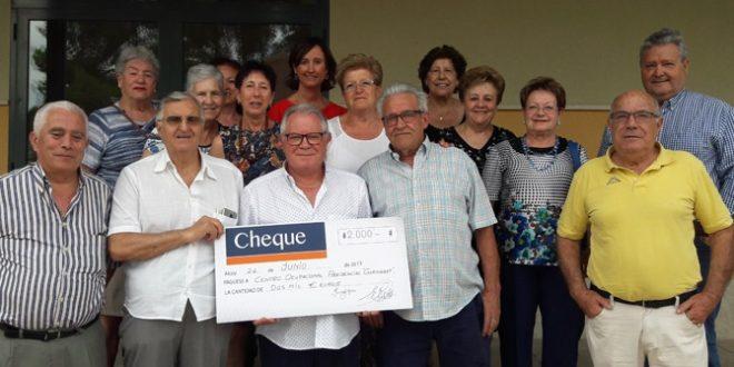 El Centro de Mayores 'la Plaça' dona 2.000 euros a Gormaget