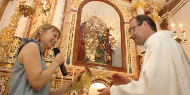 El altar de Sant Xoxim luce nuevo aspecto en la iglesia de Benilloba