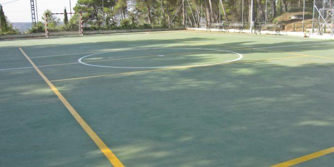 Alfafara reforma la pista de su Polideportivo Municipal