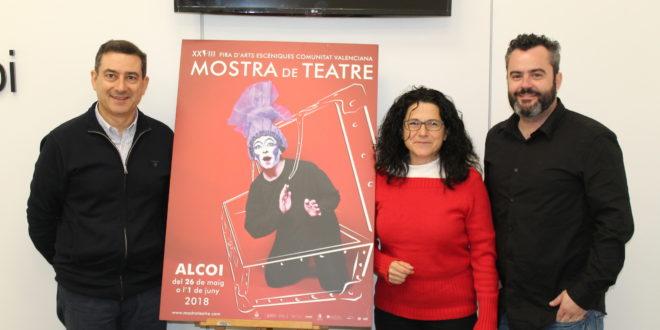 Juani Ruz es la autora del cartel anunciador de la Mostra de Teatre de Alcoy