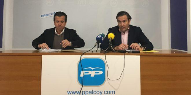 El PP reclama mayor inversión para Alcoy en los Presupuestos Autonómicos
