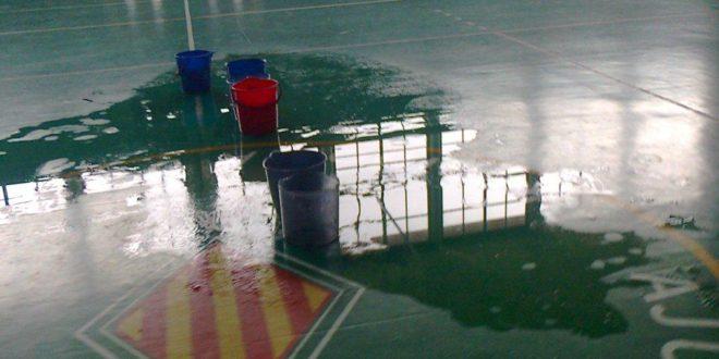 Finaliza la reparación de la cubierta del Pabellón Polideportivo de Muro