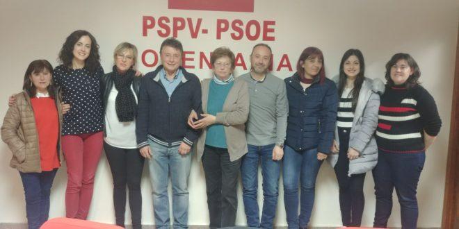 El PSOE de Cocentaina constituye su nueva Ejecutiva Local
