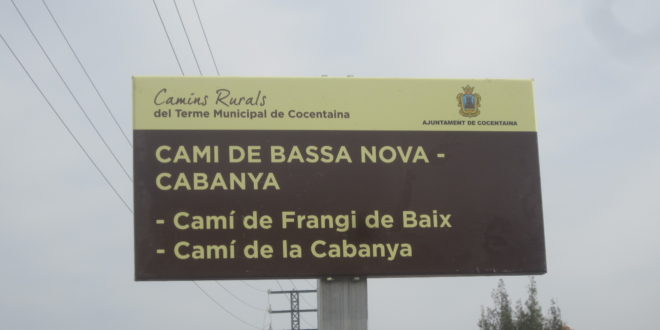 Cocentaina mejora la señalización de sus caminos rurales