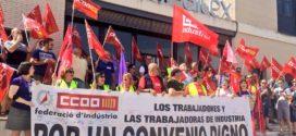 CCOO cifra en un 75% el seguimiento de la huelga del sector textil