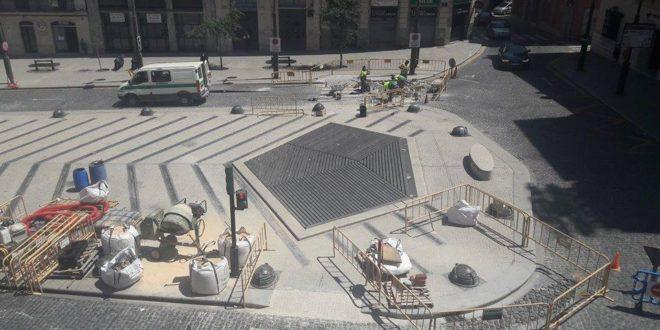 Finalizadas las obras de mejora de la accesibilidad de la Plaza de España