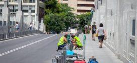 Arranca la colocación de las protecciones del Pont de Sant Jordi