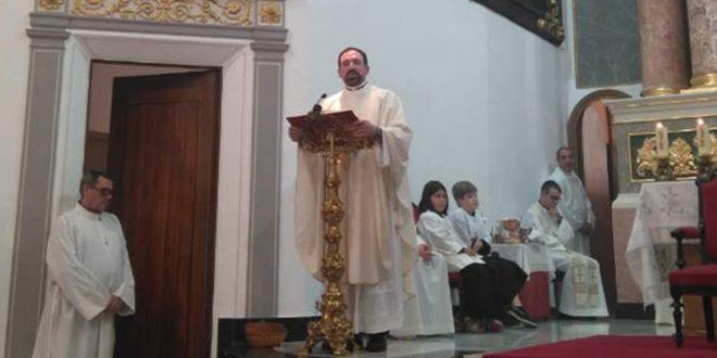 Javier Sanchiz, nuevo párroco del Salvador de Cocentaina