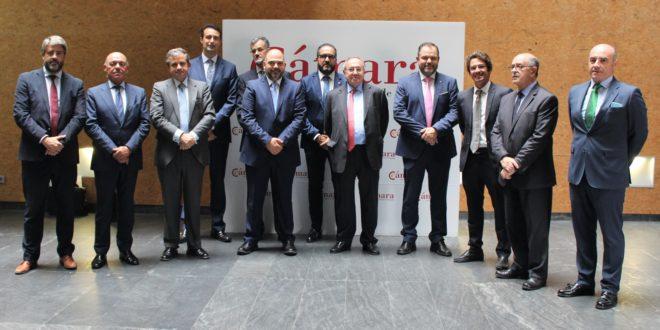 Reunión entre los presidentes de las Cámaras de Comercio de Alcoy y España
