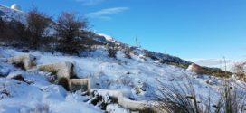 La nieve aparece tímidamente en la comarca a mediados de diciembre