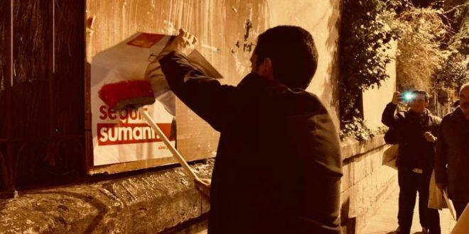 La pegada de carteles abre la campaña para las Elecciones Generales y Autonómicas