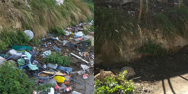 Compromís recoge hasta nueve toneladas de basura en los accesos al río