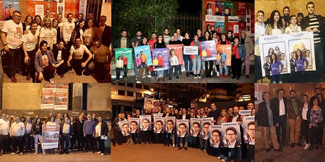 La Campaña para las municipales arranca con la pegada de carteles