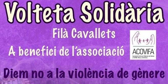 La Filà Cavallets de Cocentaina organiza una 'Volteta' solidaria a beneficio de ACOVIFA