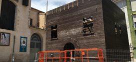 Arranca el montaje del Castillo de Fiestas de Cocentaina