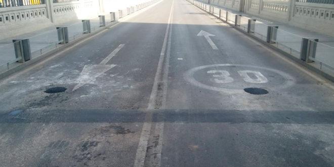 Realizan sondeos en el Pont de Sant Jordi
