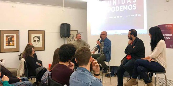 Unidas Podemos celebra un acto de campaña en Alcoy