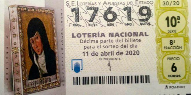 La Lotería Nacional dedica sus décimos a la Mare de Déu