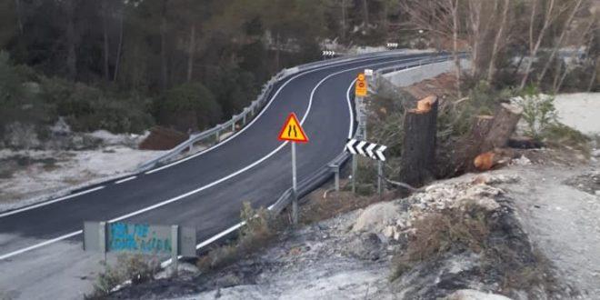 La carretera de Benimassot reabre al tráfico